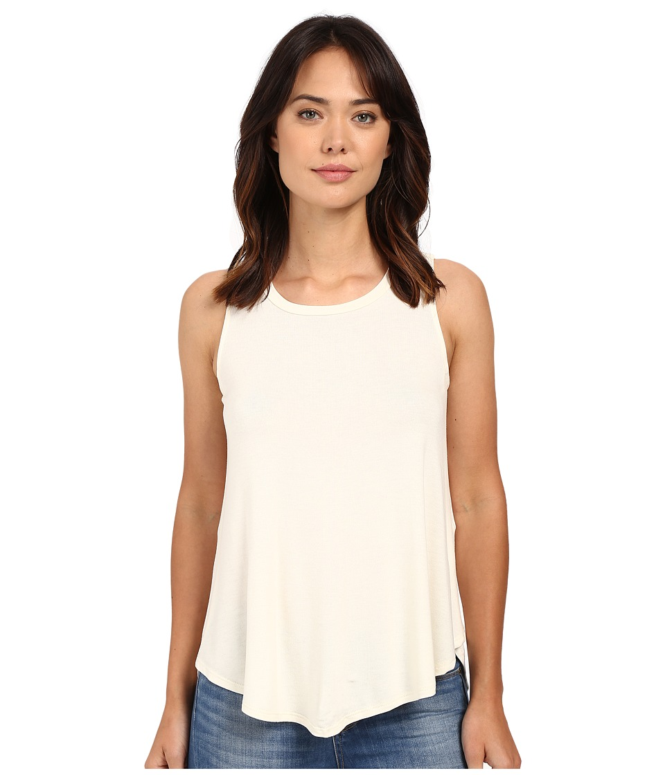 B Collection by Bobeau - Isabella Pleat Back Knit Tank Top (White) Women's Sleeveless