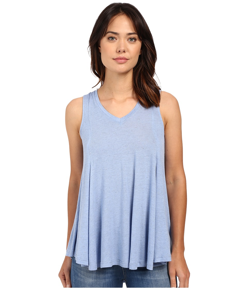 B Collection by Bobeau - Addilyn Voluminous V-Neck Knit Tank Top (Blue) Women's Sleeveless