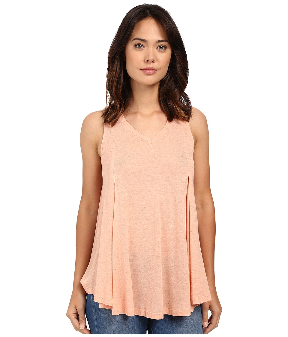 B Collection by Bobeau - Addilyn Voluminous V-Neck Knit Tank Top (Peach) Women's Sleeveless