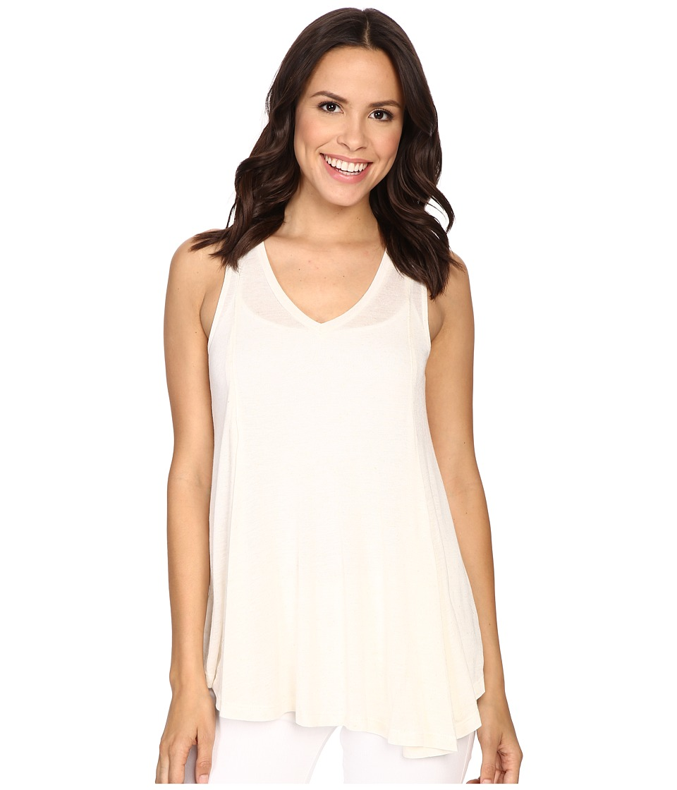 B Collection by Bobeau - Addilyn Voluminous V-Neck Knit Tank Top (Ivory) Women's Sleeveless