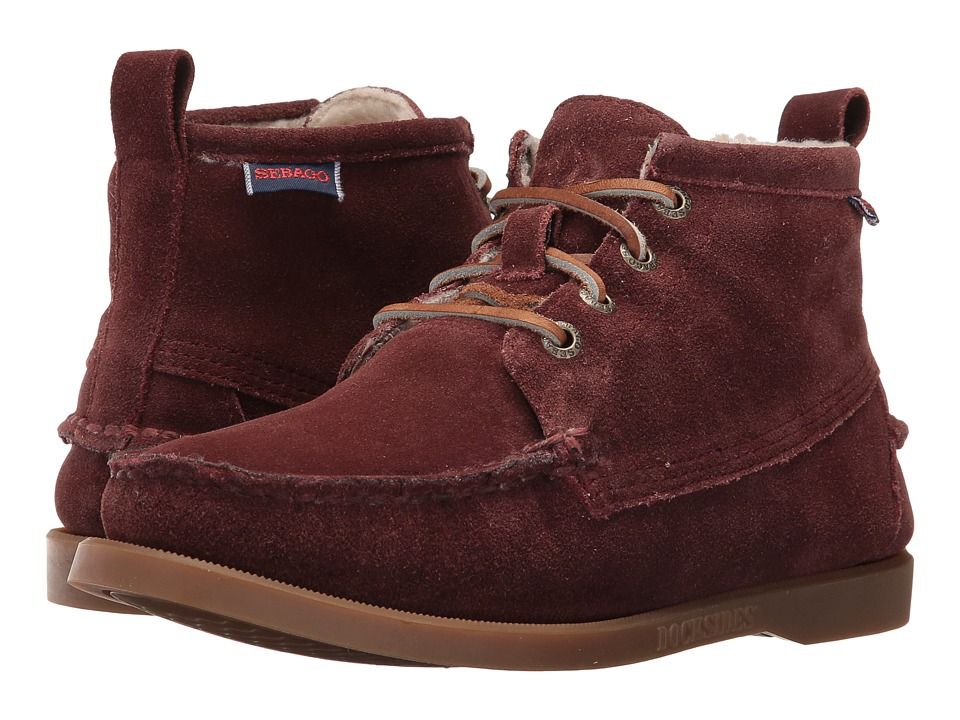 Sebago - Beacon Shearling (Burgundy Suede) Women's Shoes