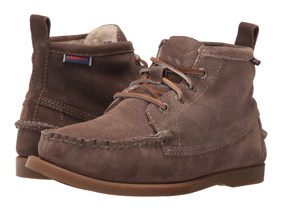 Sebago - Beacon Shearling (Dark Taupe Suede) Women's Shoes