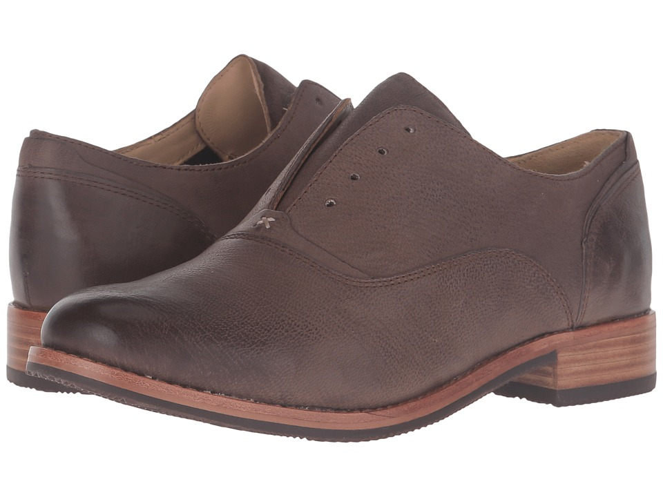 Sebago - Jayne Laceless (Dark Taupe Leather) Women's Shoes