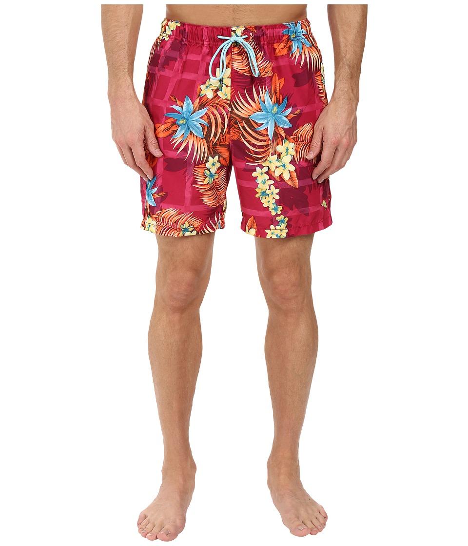 Tommy Bahama - Naples Lei Over Swim Trunks (Pink Papaya) Men's Swimwear