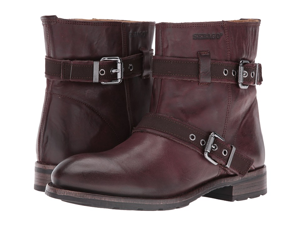 Sebago - Laney Mid Boot (Burgundy Leather) Women's Boots