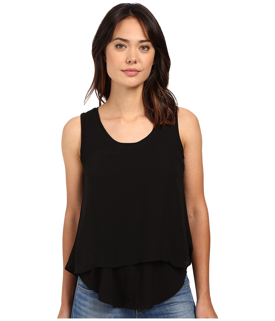 B Collection by Bobeau - Sydney Double Layer Tank Top (Black) Women's Sleeveless