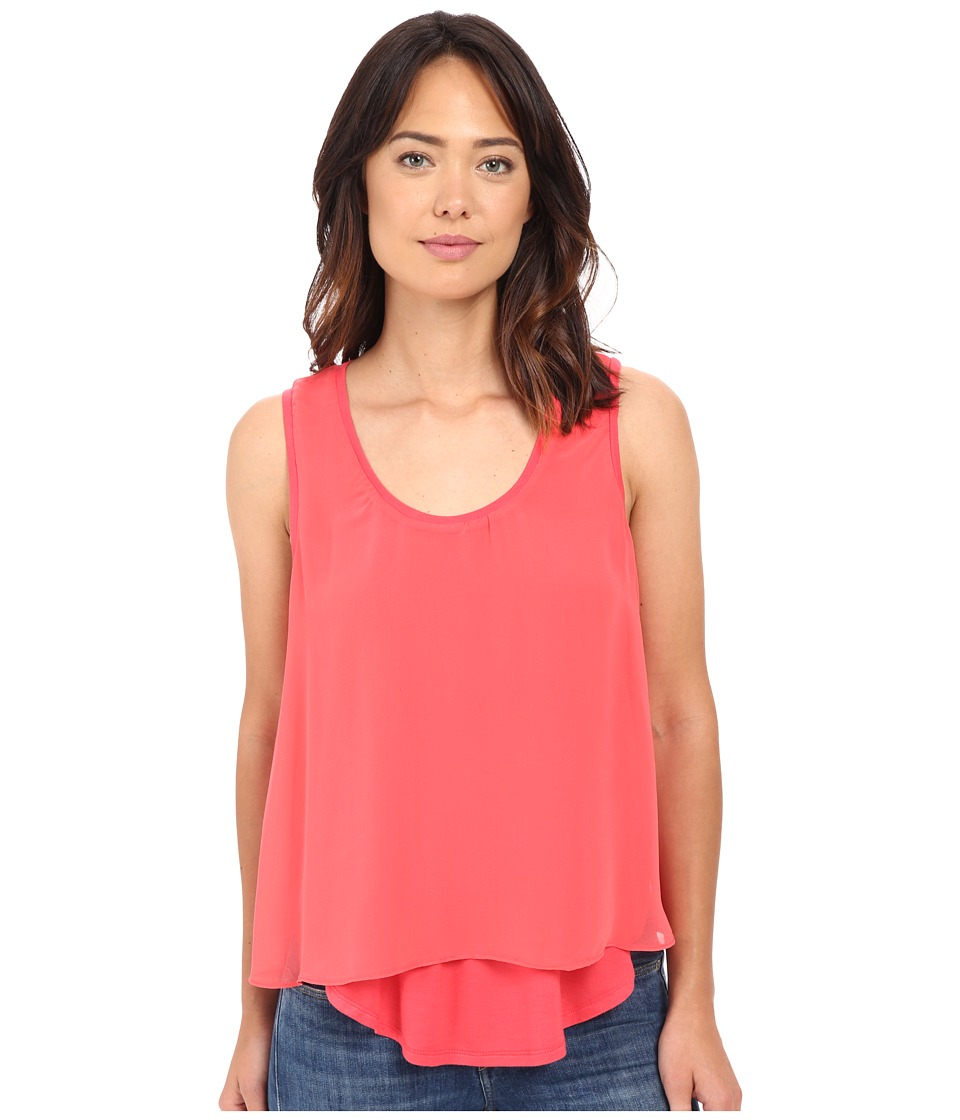 B Collection by Bobeau - Sydney Double Layer Tank Top (Coral) Women's Sleeveless