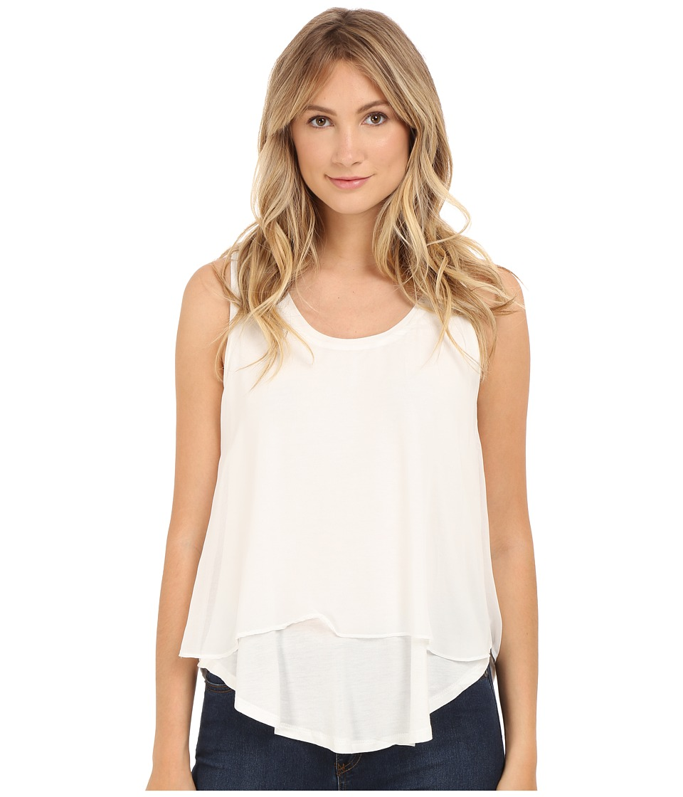 B Collection by Bobeau - Sydney Double Layer Tank Top (White) Women's Sleeveless