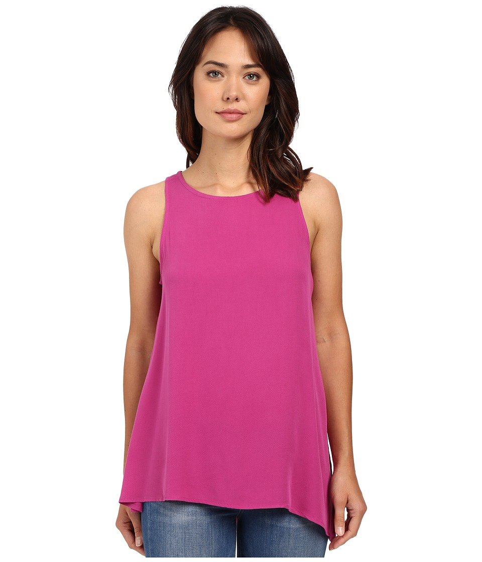 B Collection by Bobeau - Flora Asymmetric Side Slit Woven Tank Top (Fuchsia) Women's Sleeveless