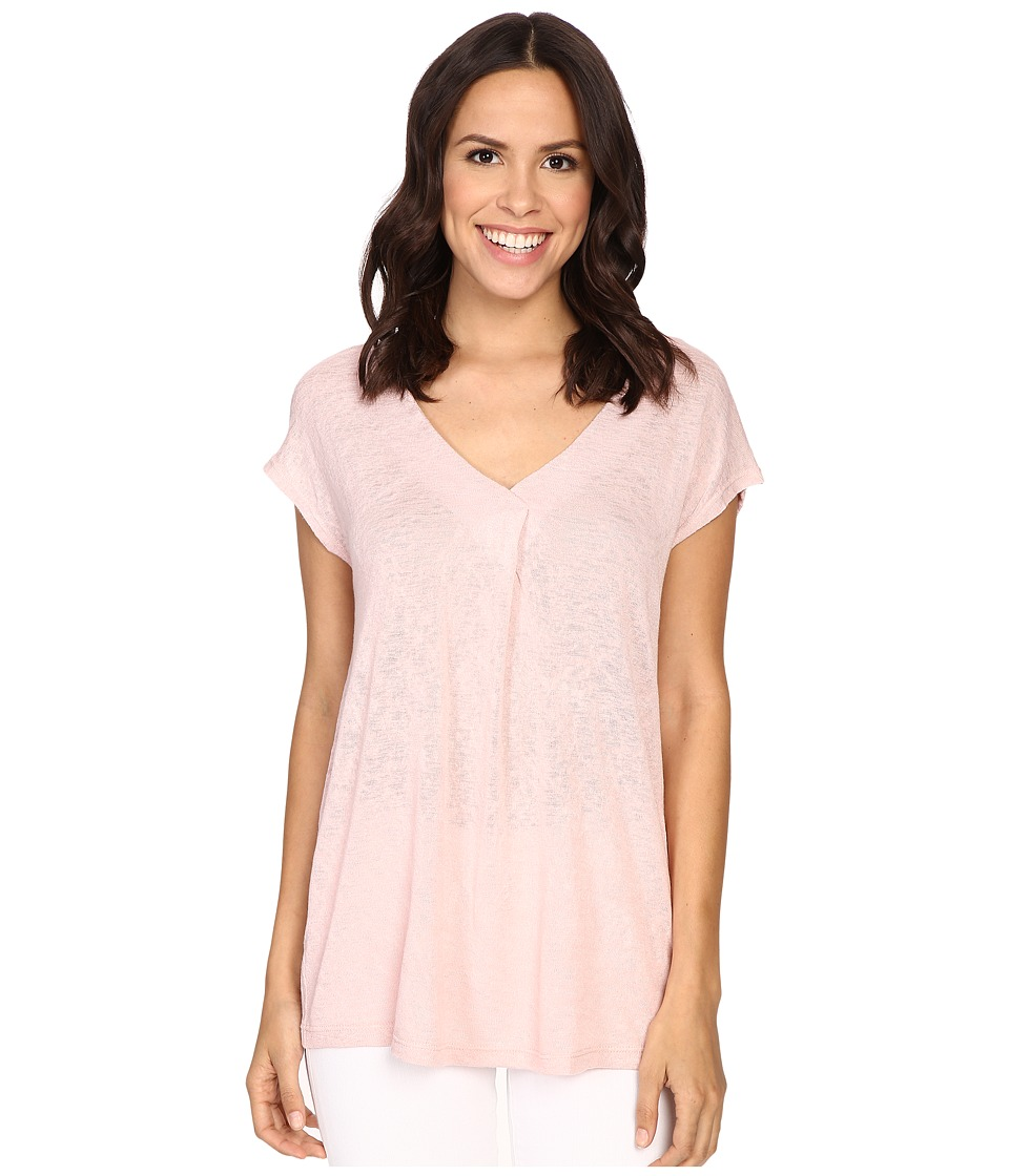 B Collection by Bobeau - Janet Front Pleat T-Shirt (Pale Pink) Women