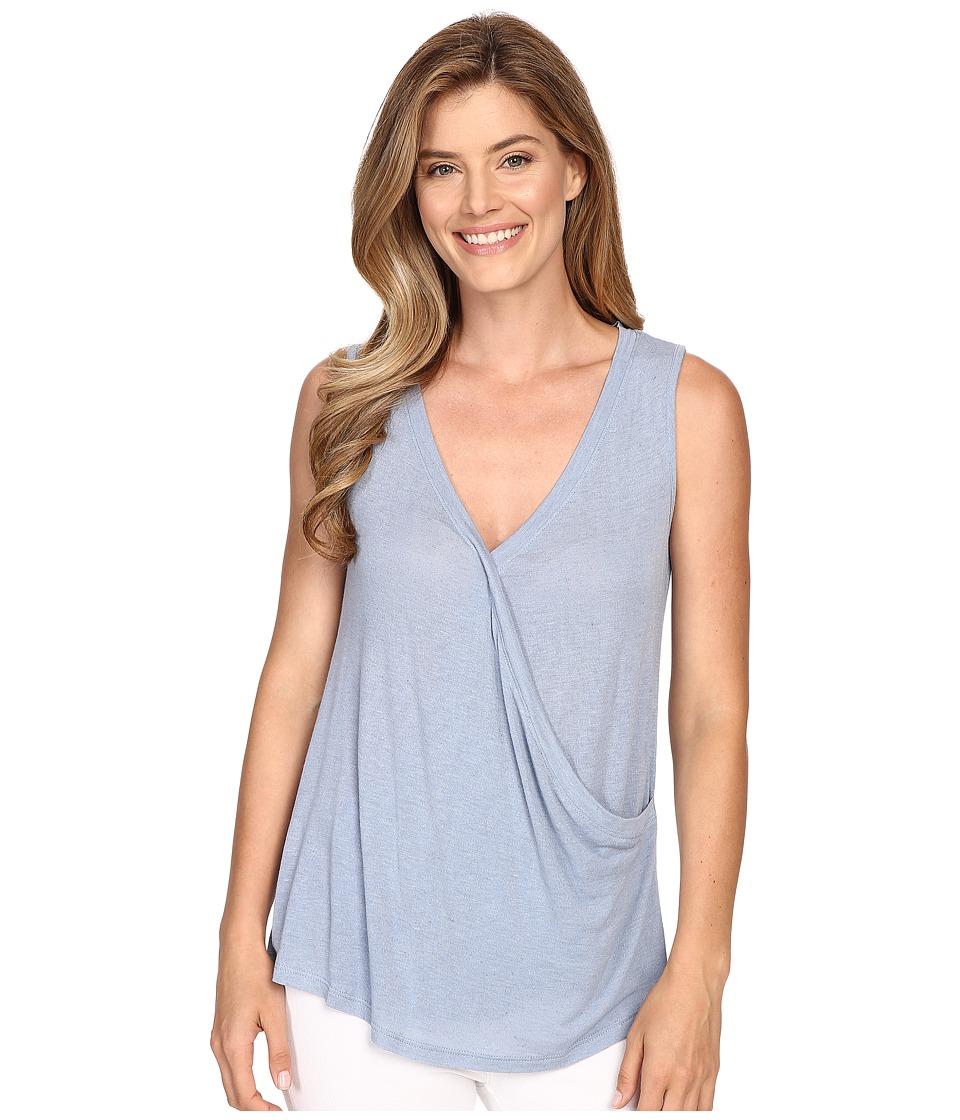 B Collection by Bobeau - Karlie Cross Front Knit Tank Top (Blue) Women's Sleeveless