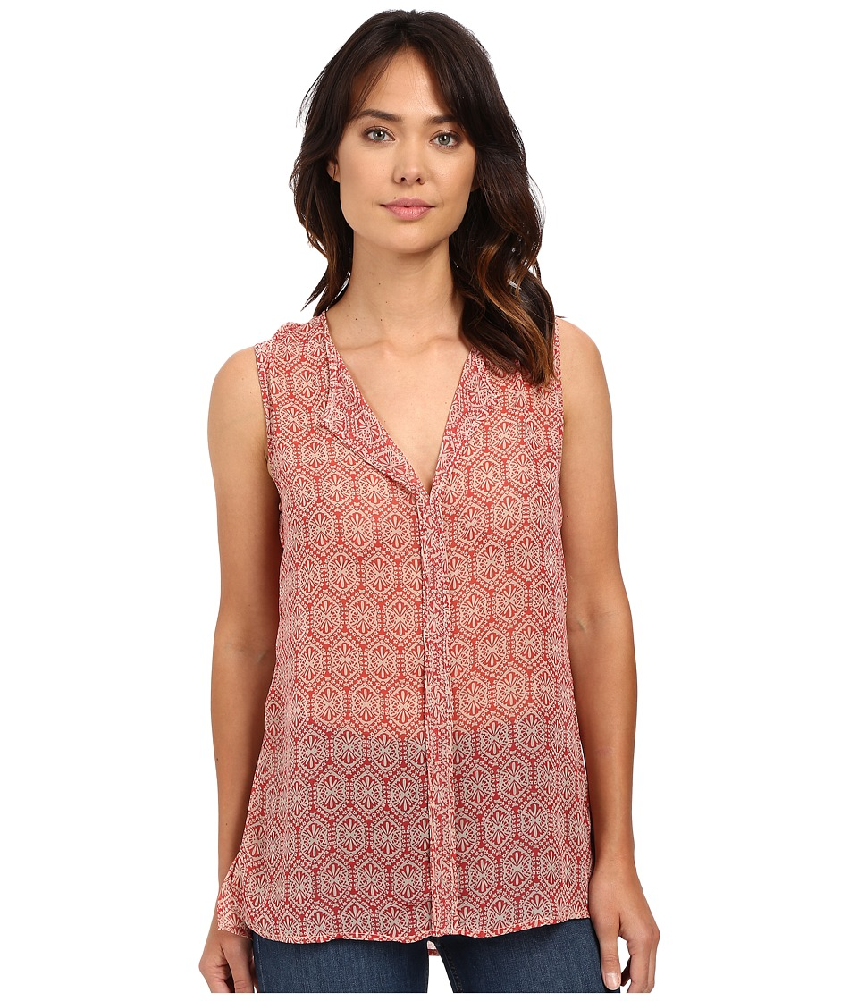 B Collection by Bobeau - Lily Pleat Back Woven Tank Top (Burgundy) Women's T Shirt