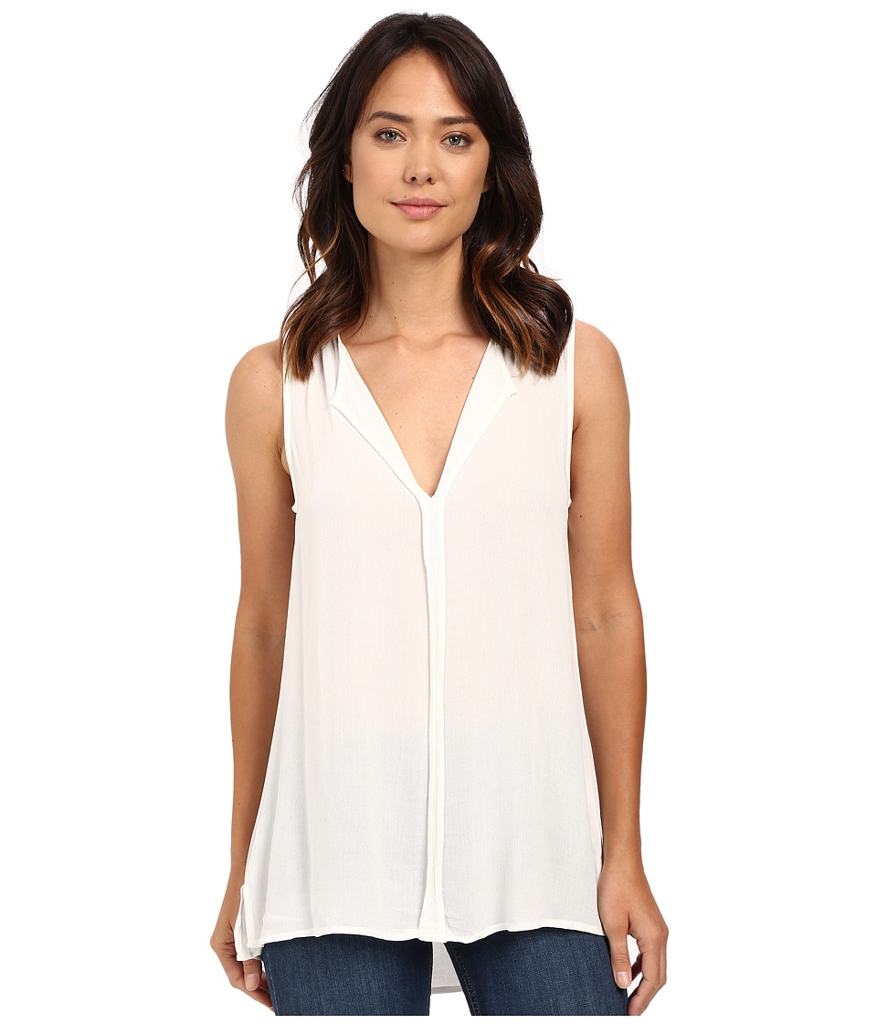 B Collection by Bobeau - Lily Pleat Back Woven Tank Top (Ivory) Women's T Shirt