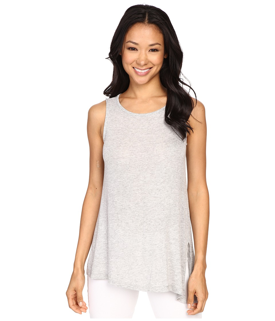 B Collection by Bobeau - Effie Split Asymmetric Knit Tank Top (Heather Grey) Women's Sleeveless