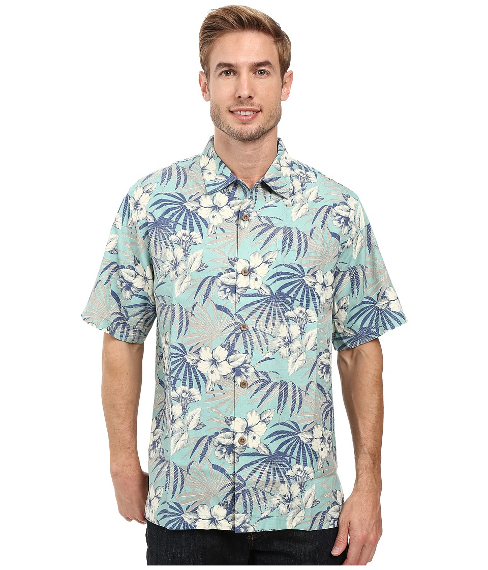 Tommy Bahama - Hibiscus De Cuba Shirt (Dusty Jade Green) Men's Clothing