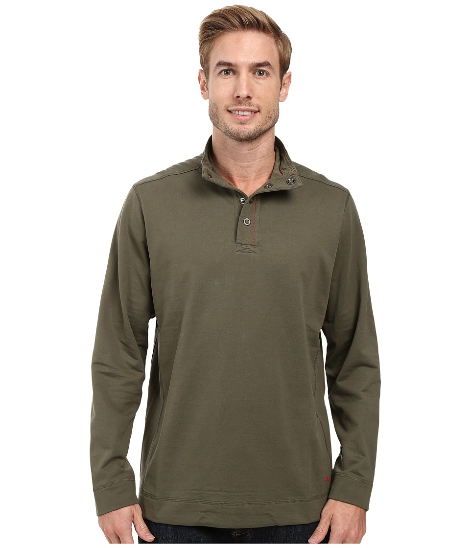 Tommy Bahama - Weekend Harbor Snap Mock Shirt (Beetle Green) Men's Clothing