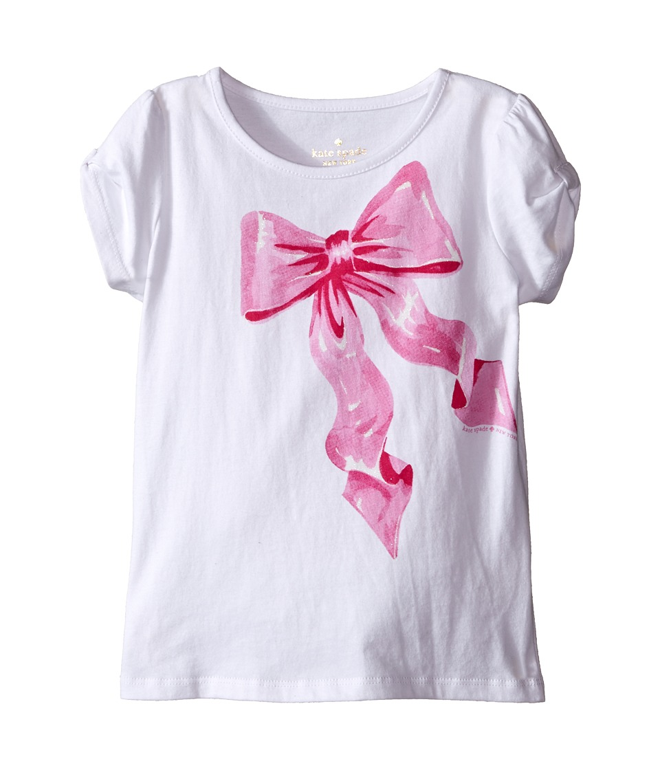 Kate Spade New York Kids - Tromp L'Oeil Bow Tee (Toddler/Little Kids) (Fresh White) Girl's T Shirt