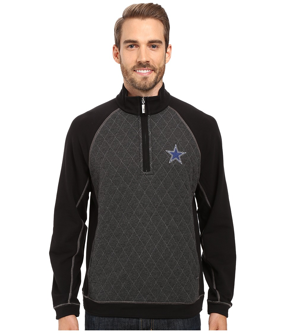 Tommy Bahama - NFL Girdiron 1/2 Zip (Cowboys Black) Men's Clothing