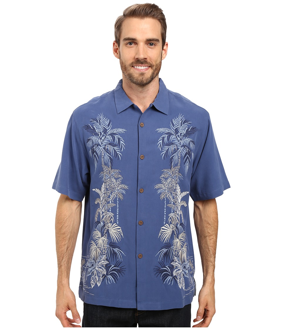 Tommy Bahama - Rhymba Jungle Shirt (Dockside Blue) Men's Clothing