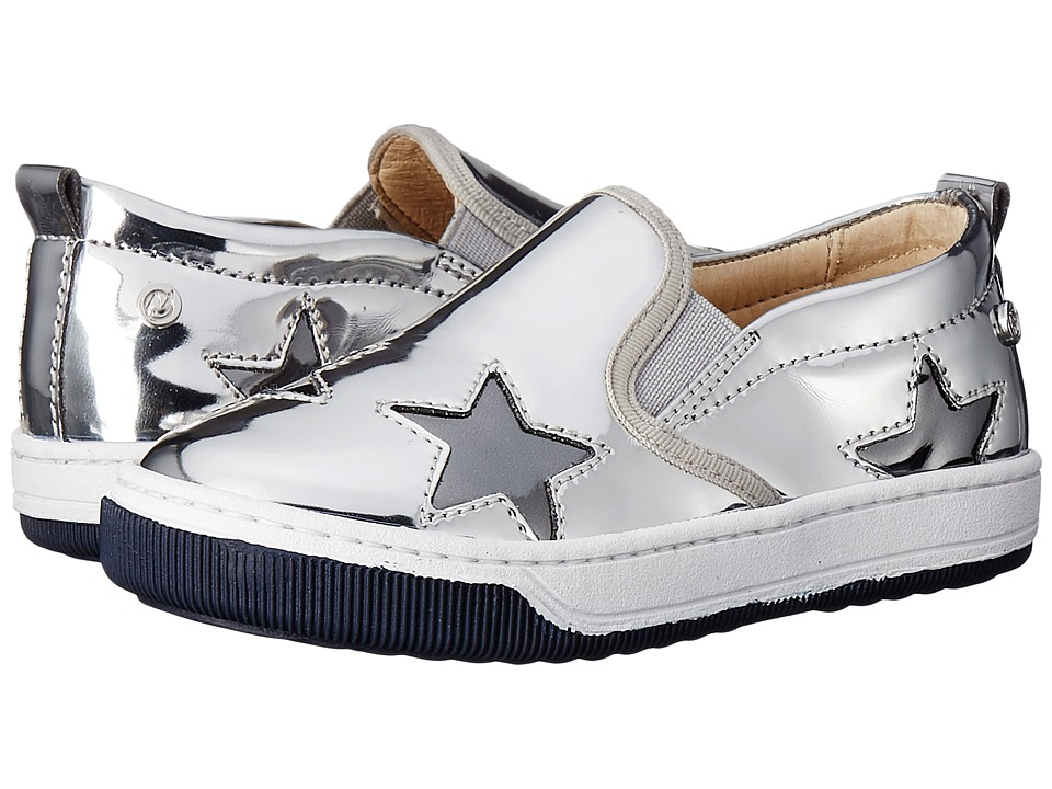 Naturino - Nat. Duke Stars AW16 (Toddler/Little Kid/Big Kid) (Silver) Girls Shoes