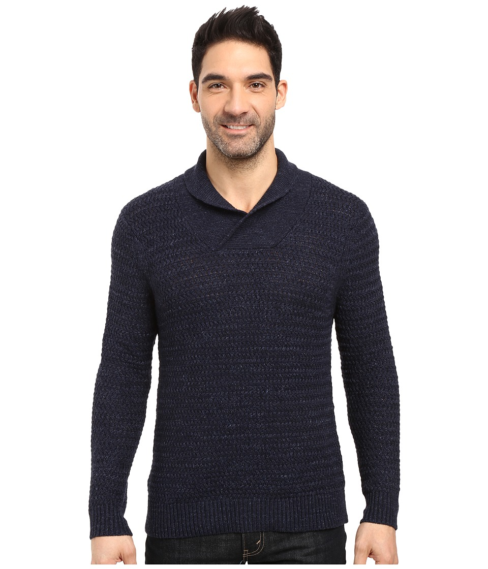 Tommy Bahama Cape Escape Pullover Shawl Sweater (Blue Note) Men