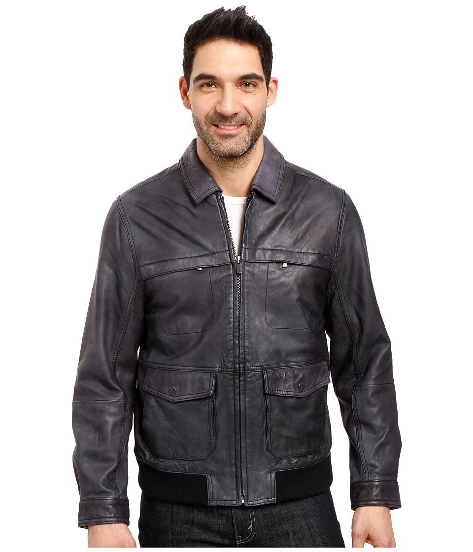 Tommy Bahama - Santiago Avaitor Jacket (Black) Men's Coat
