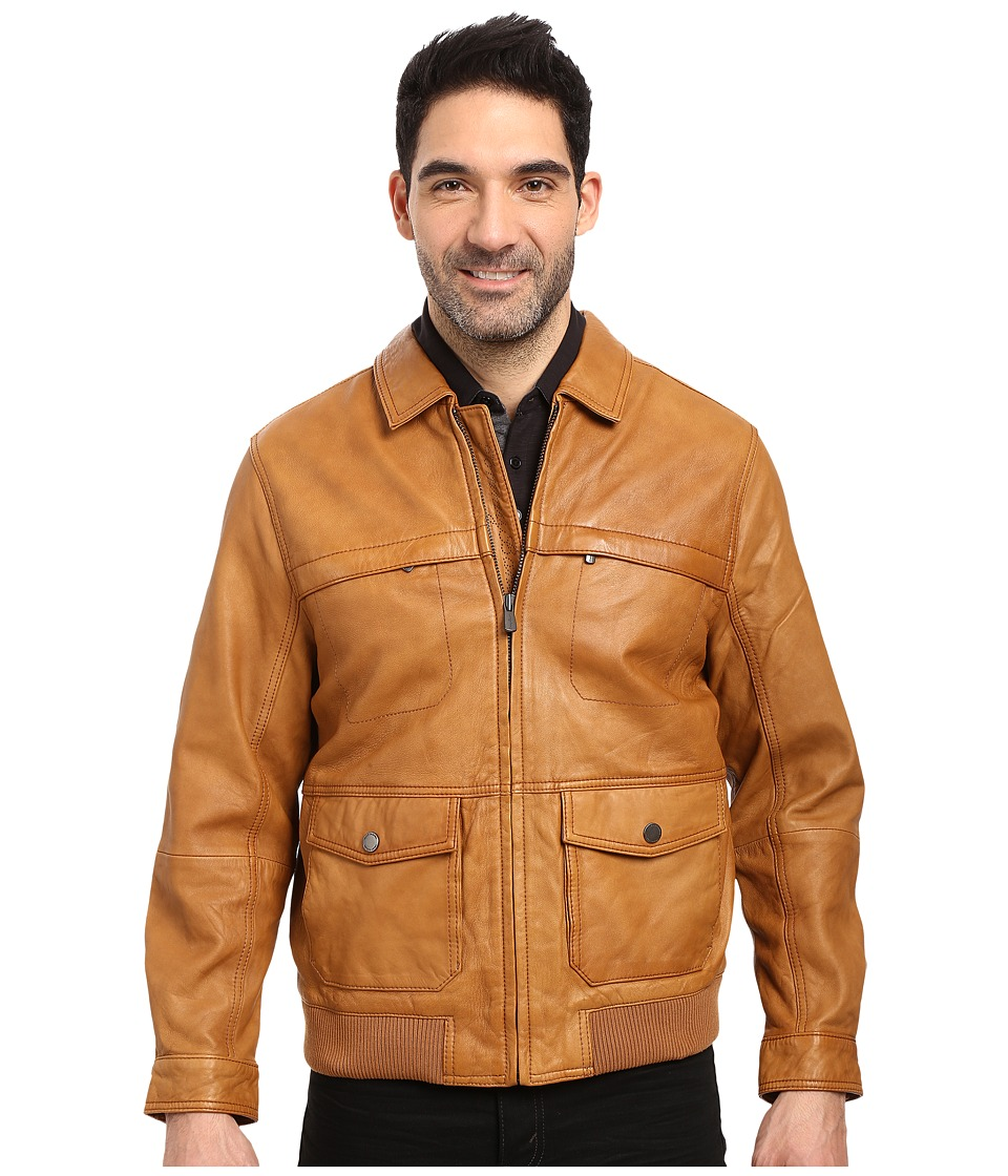 Tommy Bahama - Santiago Avaitor Jacket (Cognac) Men's Coat