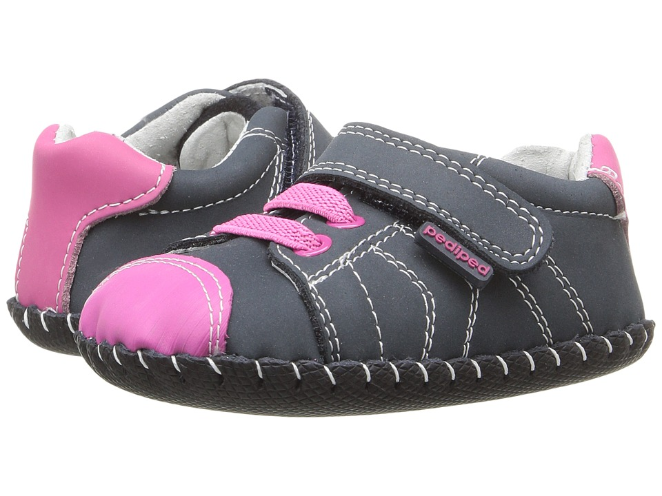 pediped - Jake Originals (Infant) (Navy/Pink) Girl's Shoes
