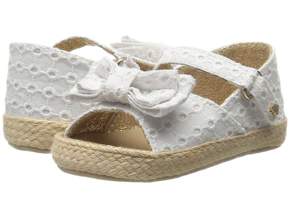 Kate Spade New York Kids - Eyelet Bow Sandal (Infant/Toddler) (Fresh White) Girls Shoes