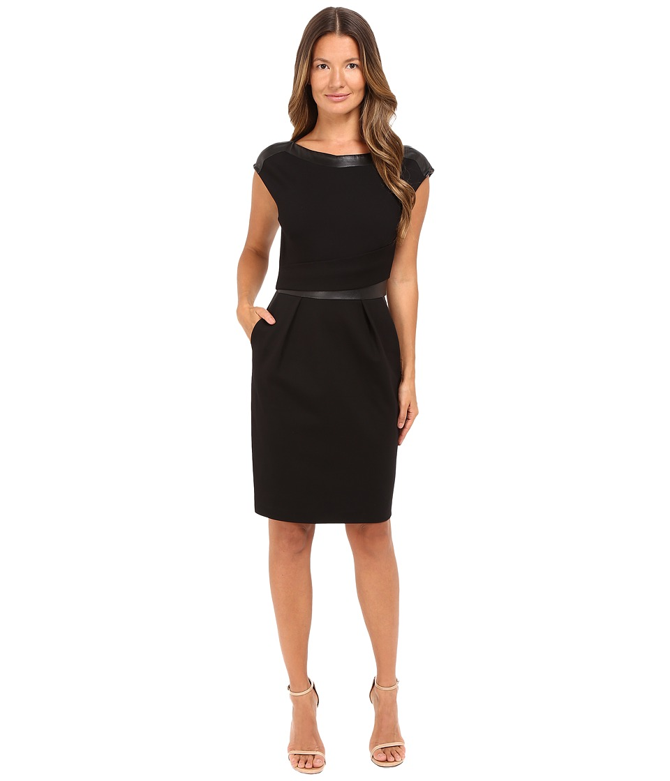 The Kooples - Hopla-Stretch Dress (Black) Women's Dress