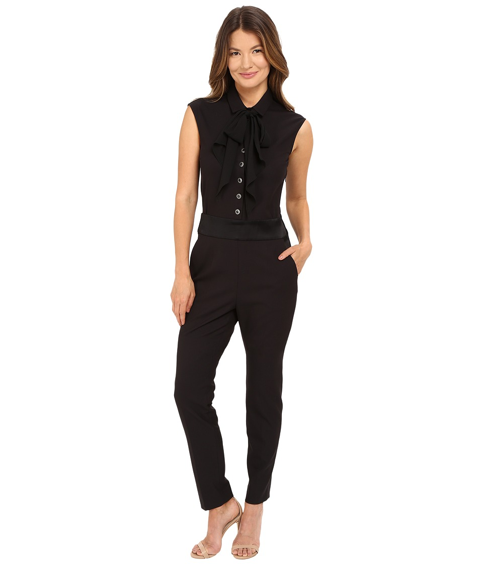 The Kooples - Light Sponge Crepe Jumpsuit (Black) Women's Jumpsuit & Rompers One Piece