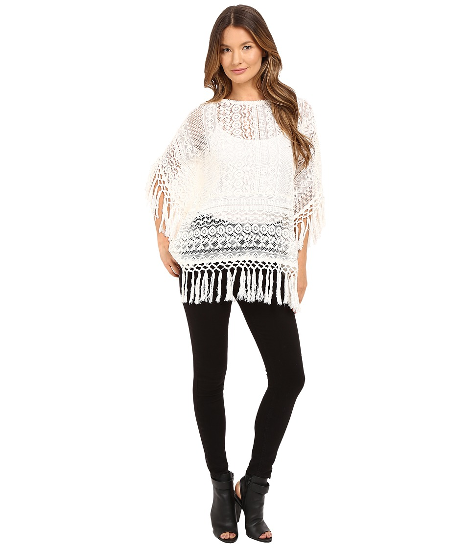 The Kooples - Crochet Fringes (Ecru) Women's Clothing