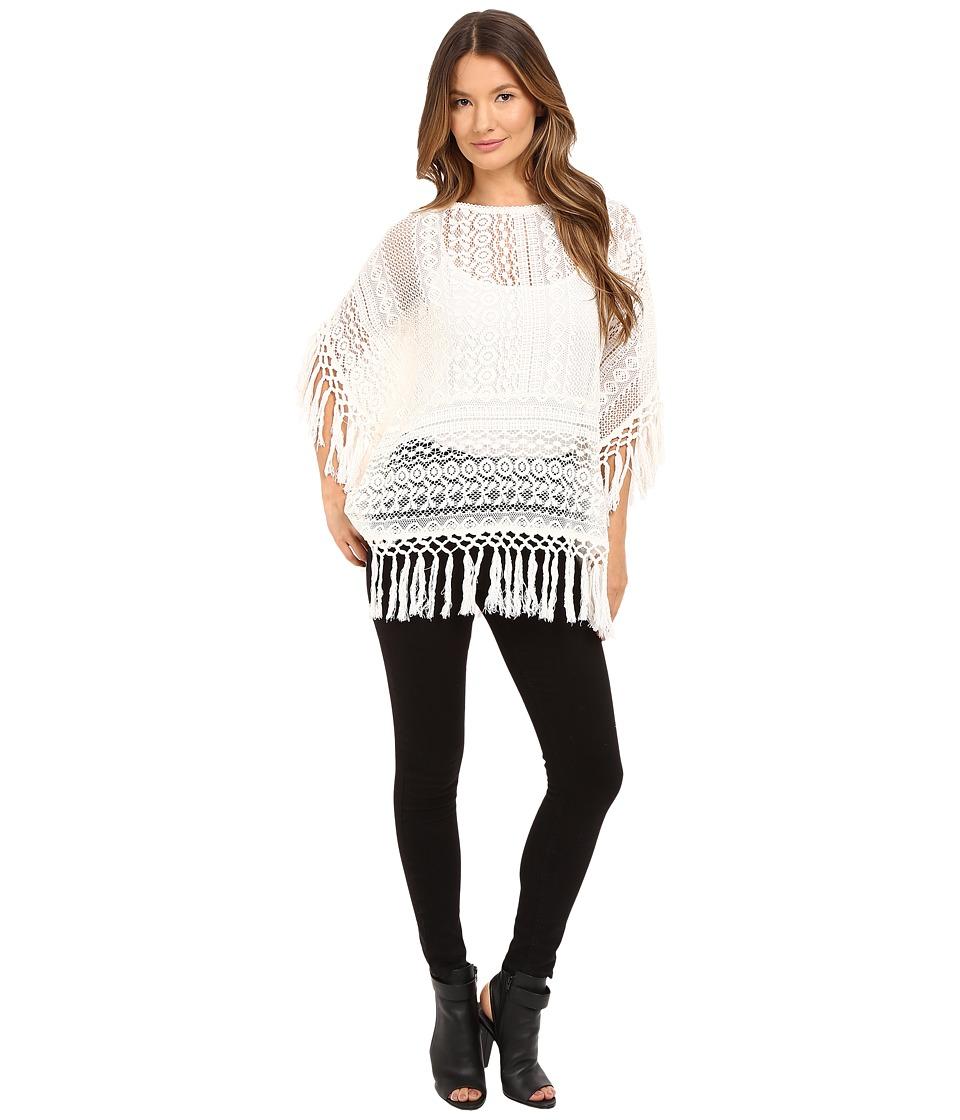 The Kooples - Crochet Fringes (Ecru) Women's Clothing