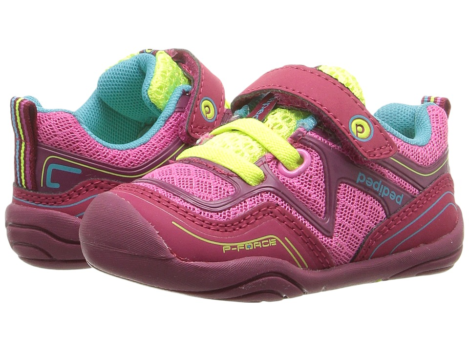 pediped - Force Grip n Go (Toddler) (Fuchsia) Girl's Shoes
