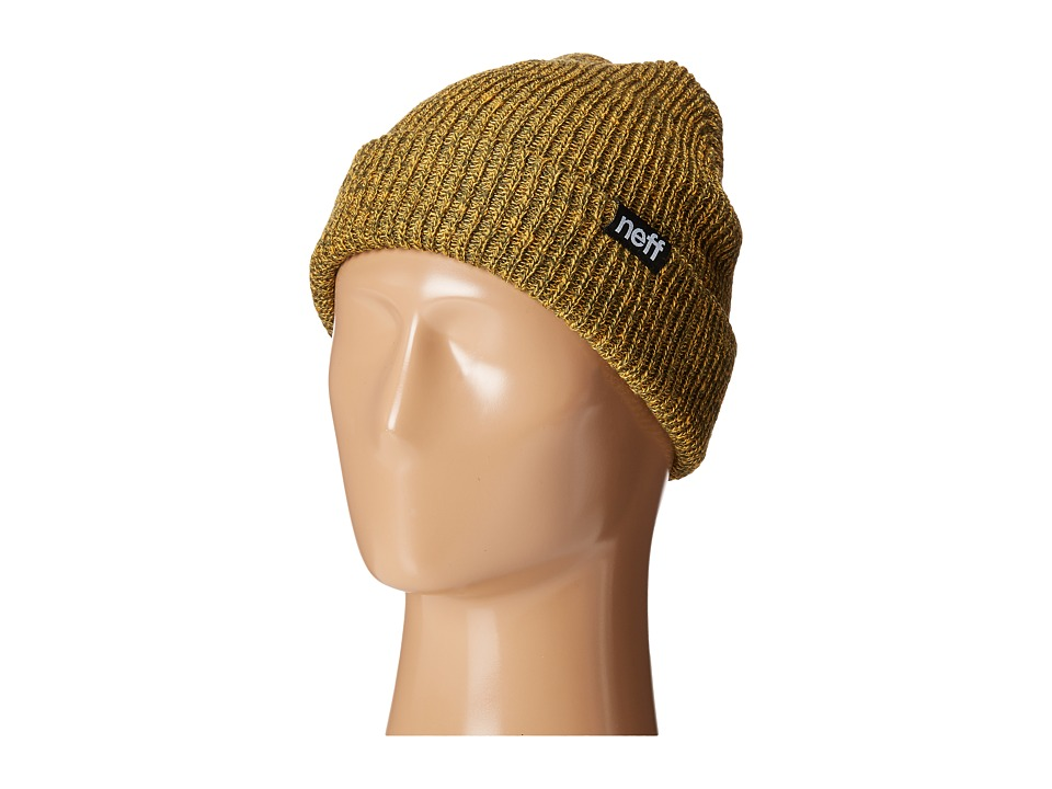 Neff - Daily Double Beanie (Green/Gold) Beanies