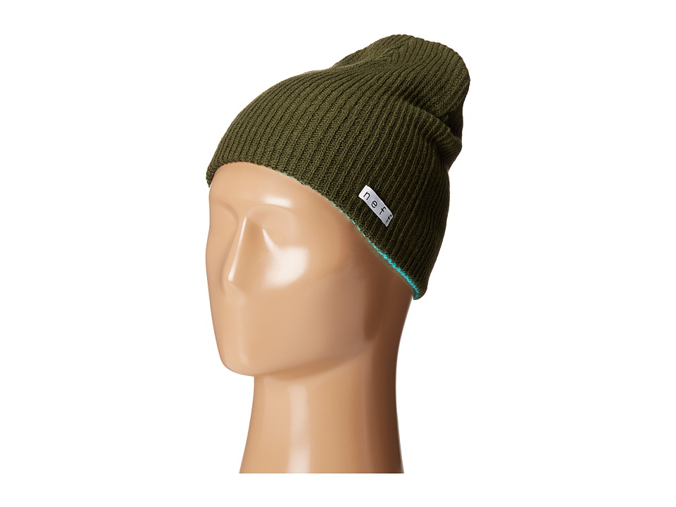 Neff - Daily Reversible Beanie (Green/Teal) Beanies