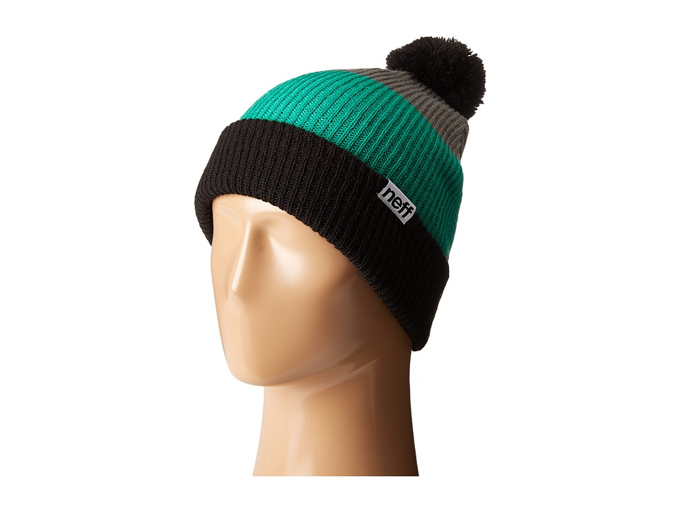 Neff - Snappy Beanie (Black/Green/Grey) Beanies