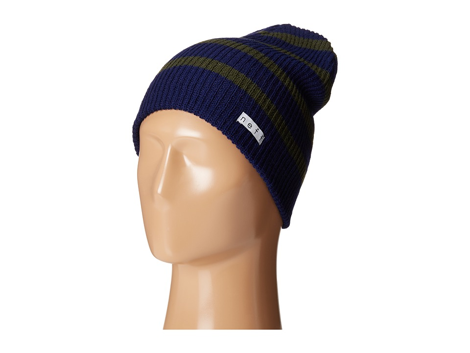 Neff - Daily Stripe Beanie (Green/Blue) Beanies