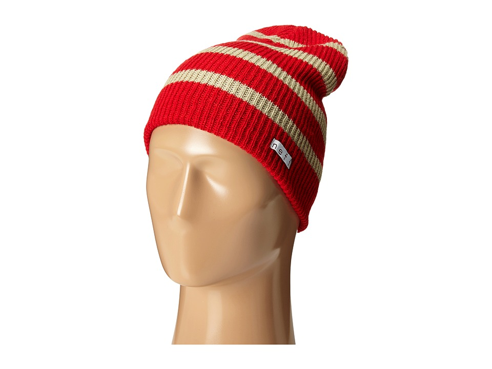 Neff - Daily Stripe Beanie (Red/Twill) Beanies