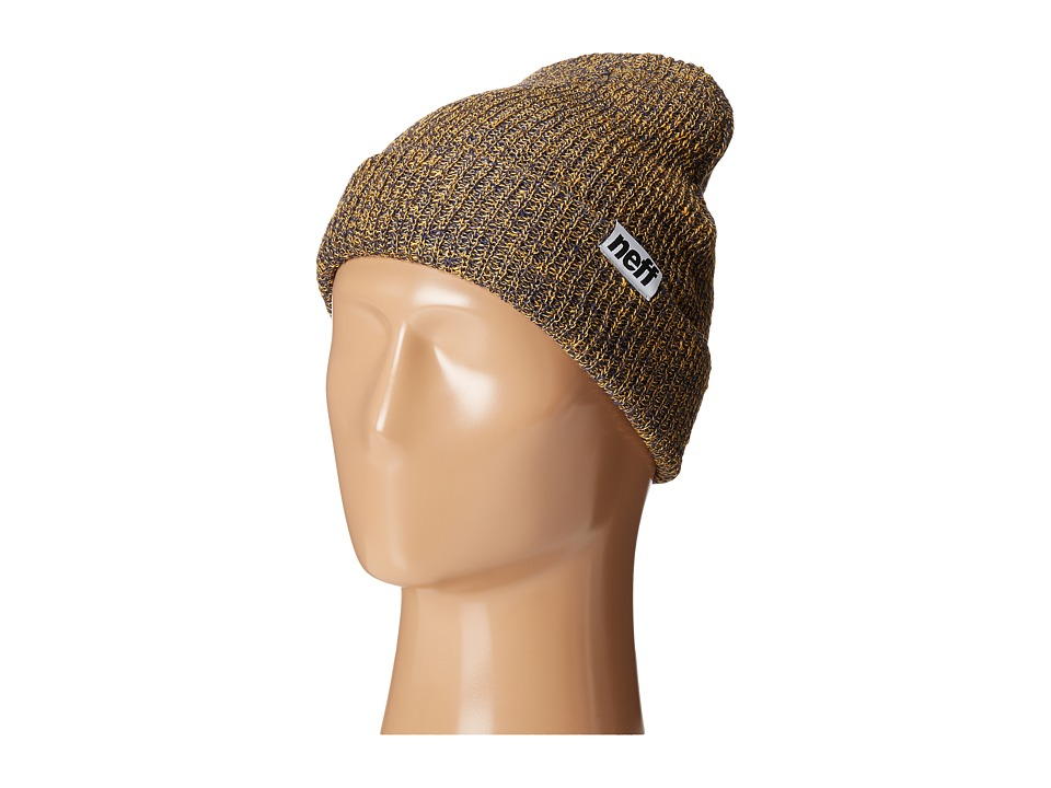 Neff - Fold Heather Beanie (Blue/Gold) Beanies