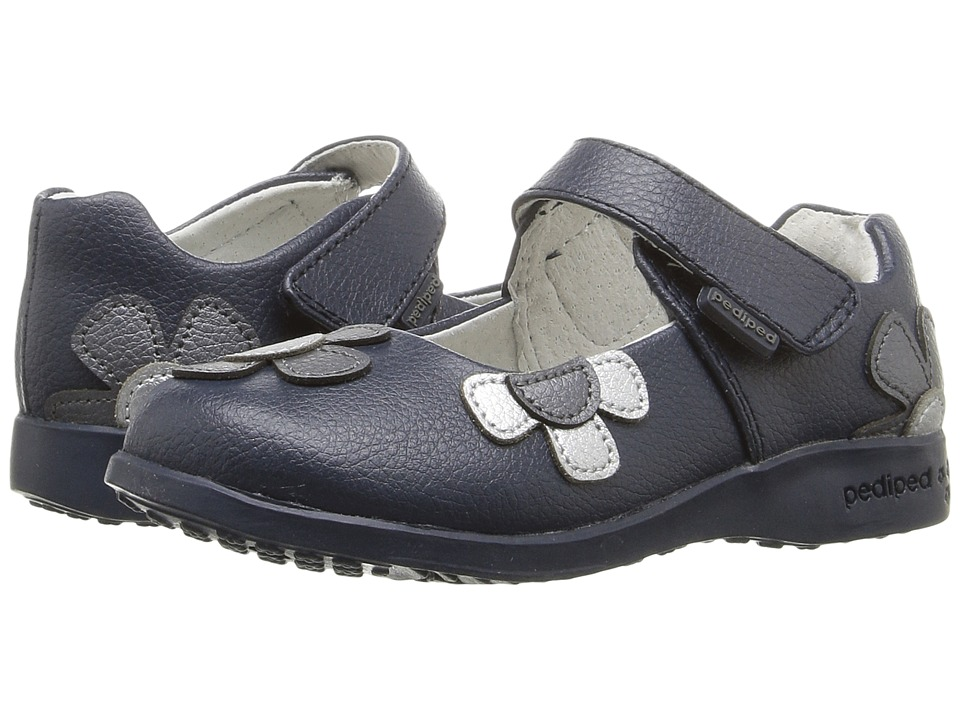 pediped - Abigail Flex (Toddler/Little Kid) (Navy) Girl's Shoes