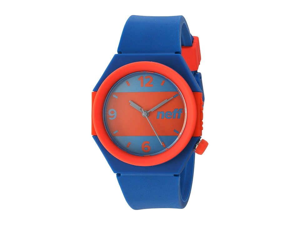 Neff - Stripe Watch (Blue/Red) Watches
