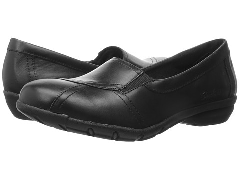 SKECHERS - Career - Conference (Black Leather) Women's Shoes