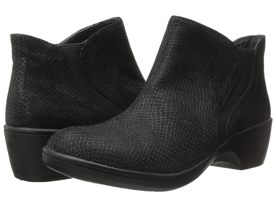 SKECHERS - Flexibles - Rattle (Black Snake Print Leather) Women's Shoes