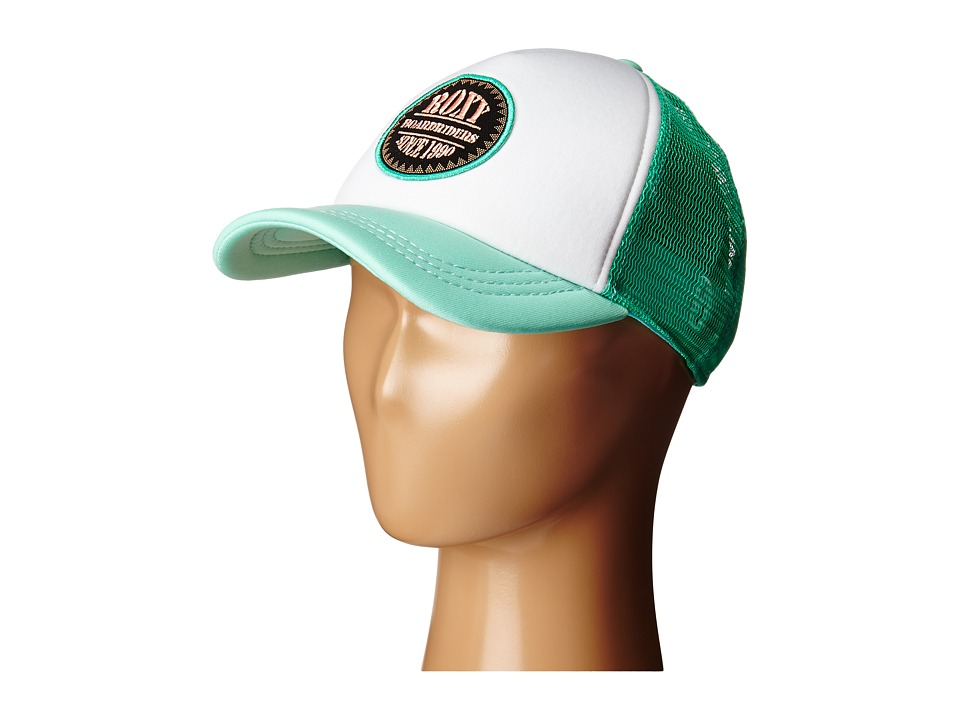 Roxy - Truckin Trucker Hat (Electric Green) Caps