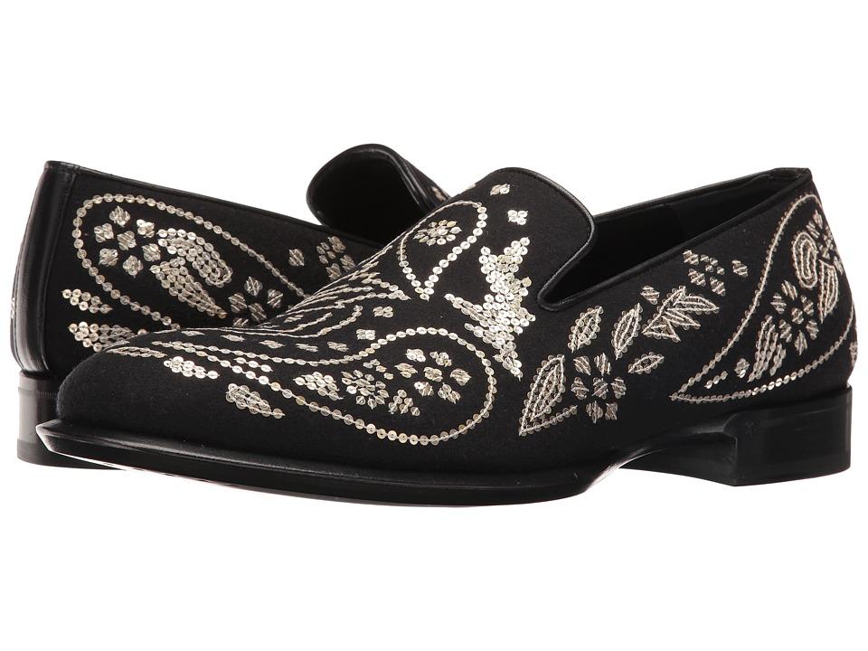 Alexander McQueen Embroidered Slip-On (Black/Light Gold) Men