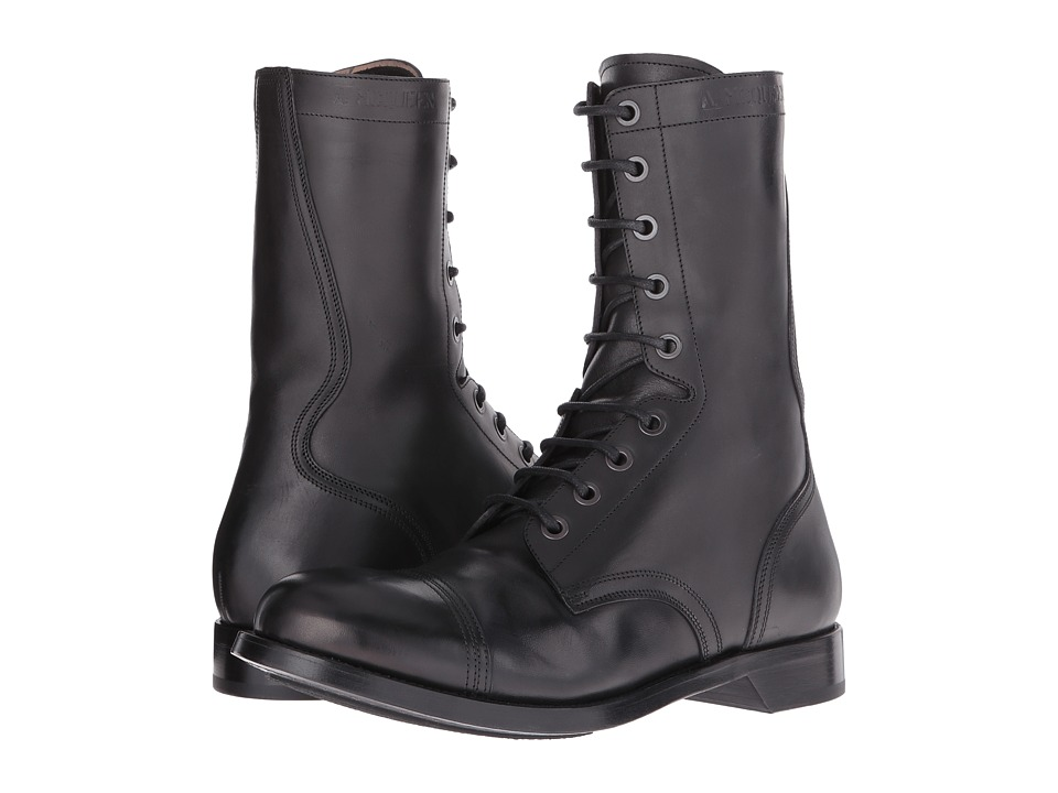 Alexander McQueen - Tall Lace-Up Boot (Black) Men's Boots