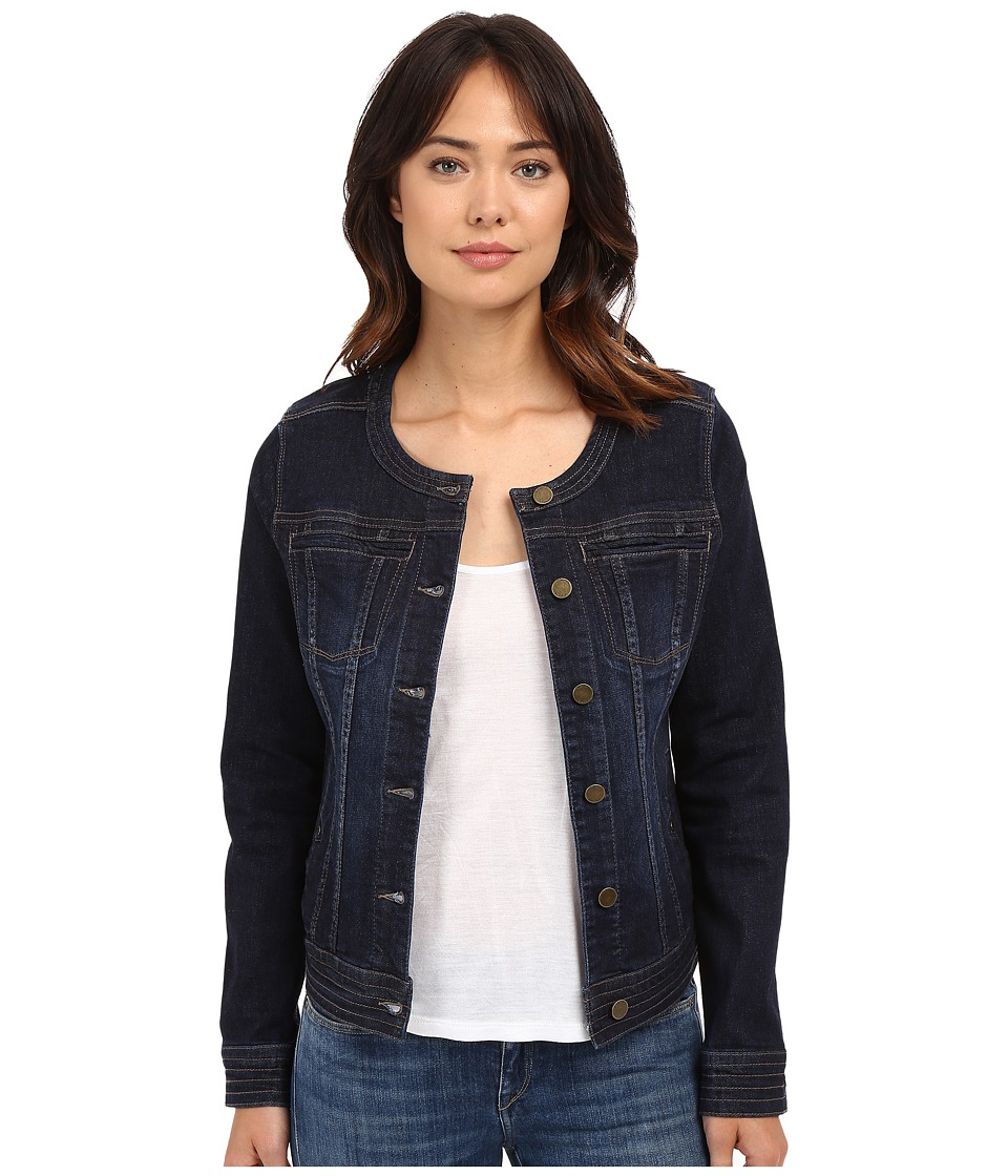Liverpool - Denim Collarless Lightweight Jean Jacket (Vintage Super Dark) Women's Coat