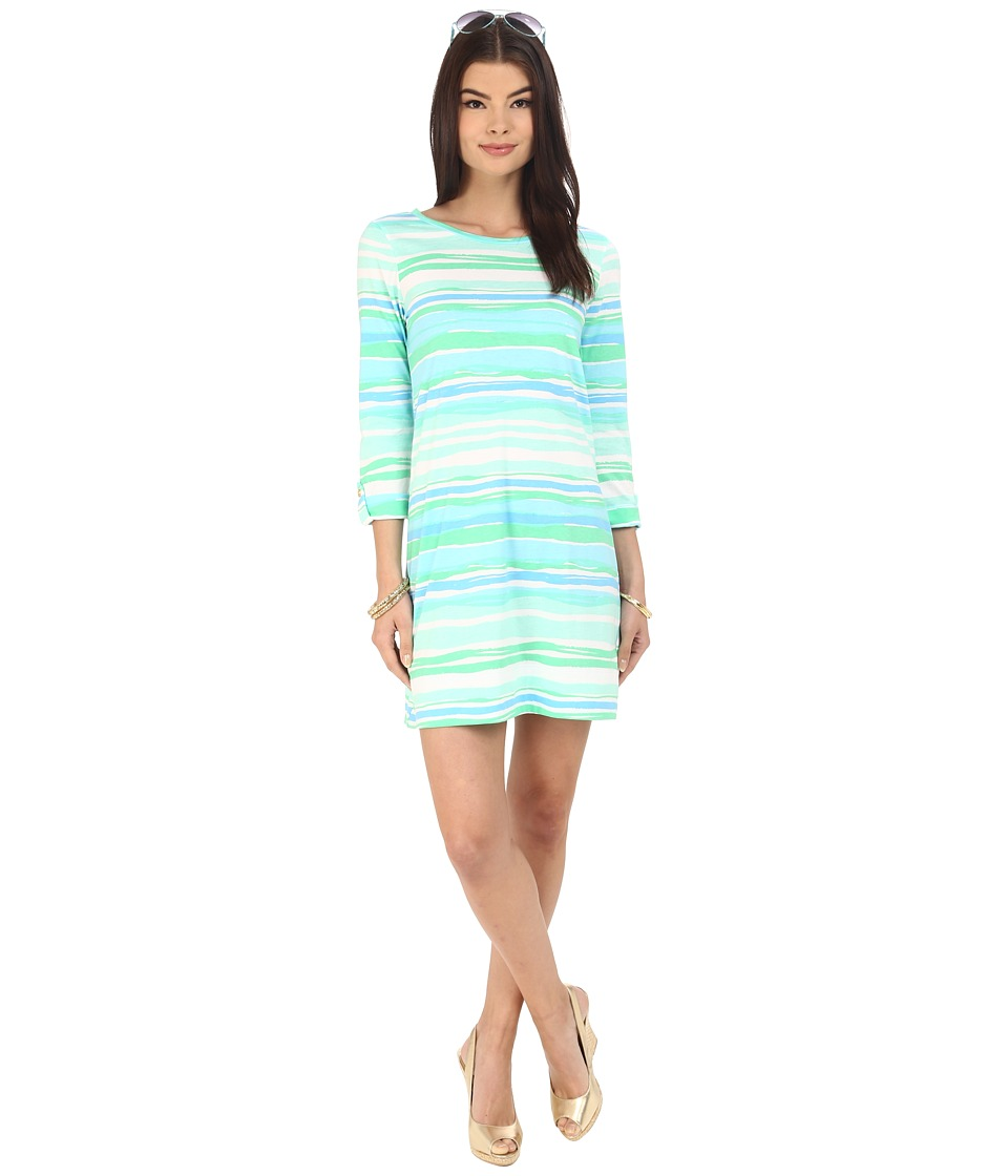 Lilly Pulitzer - Linden Dress (Seaspray Blue Sea Stripe) Women's Dress