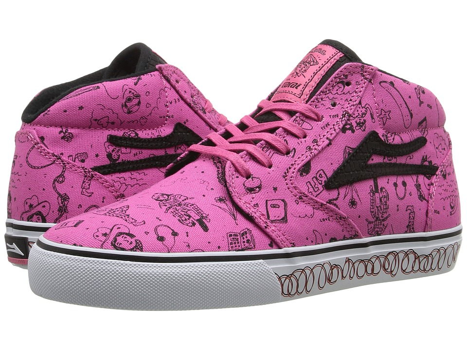 Lakai - Fura High x Lena Dunham (Bubble Gum Canvas) Women's Skate Shoes